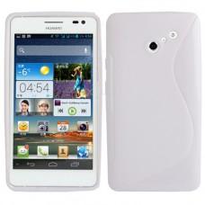 Белый силиконовый чехол для Huawei Ascend D2