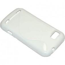 Белый силиконовый чехол для ZTE v970