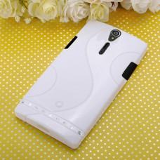 Белый силиконовый чехол для Sony Xperia S (Arc HD)