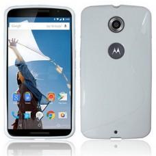 Белый силиконовый чехол для Nexus 6