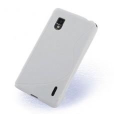 Белый силиконовый чехол для LG Optimus G