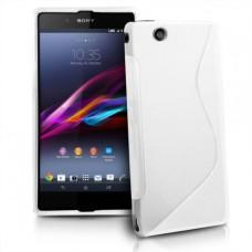 Белый силиконовый чехол для Sony Xperia Z Ultra