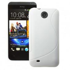 Белый силиконовый чехол для HTC Desire 300