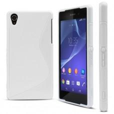 Белый силиконовый чехол для Sony Xperia Z2