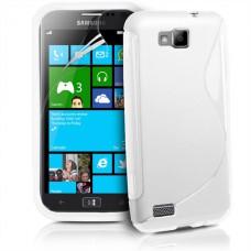 Белый силиконовый (гелевый) чехол для Samsung Ativ S