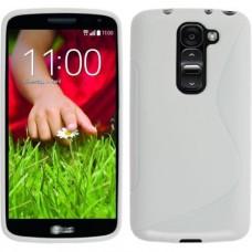 Белый силиконовый чехол для LG G2 mini