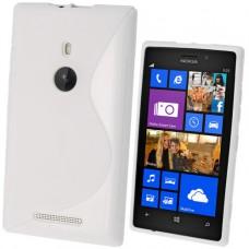 Белый силиконовый чехол для Nokia Lumia 925