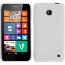 Белый силиликоновый чехол для Nokia Lumia 630/635