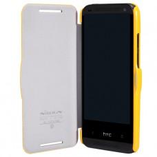 Желтый чехол книжка Nillkin для HTC Desire 601