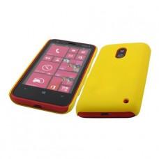 Желтый пластиковый чехол для Nokia Lumia 620