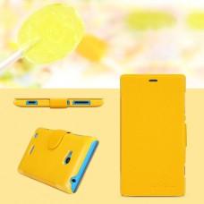 Желтый чехол книжка Nillkin для Nokia Lumia 720