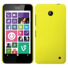 Желтый пластиковый чехол для Nokia Lumia 630/635