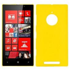 Желтый пластиковый чехол для Nokia Lumia 830